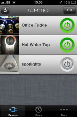 WeMo Swtich for iPhone