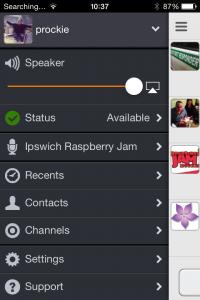 Zello App on iPhone